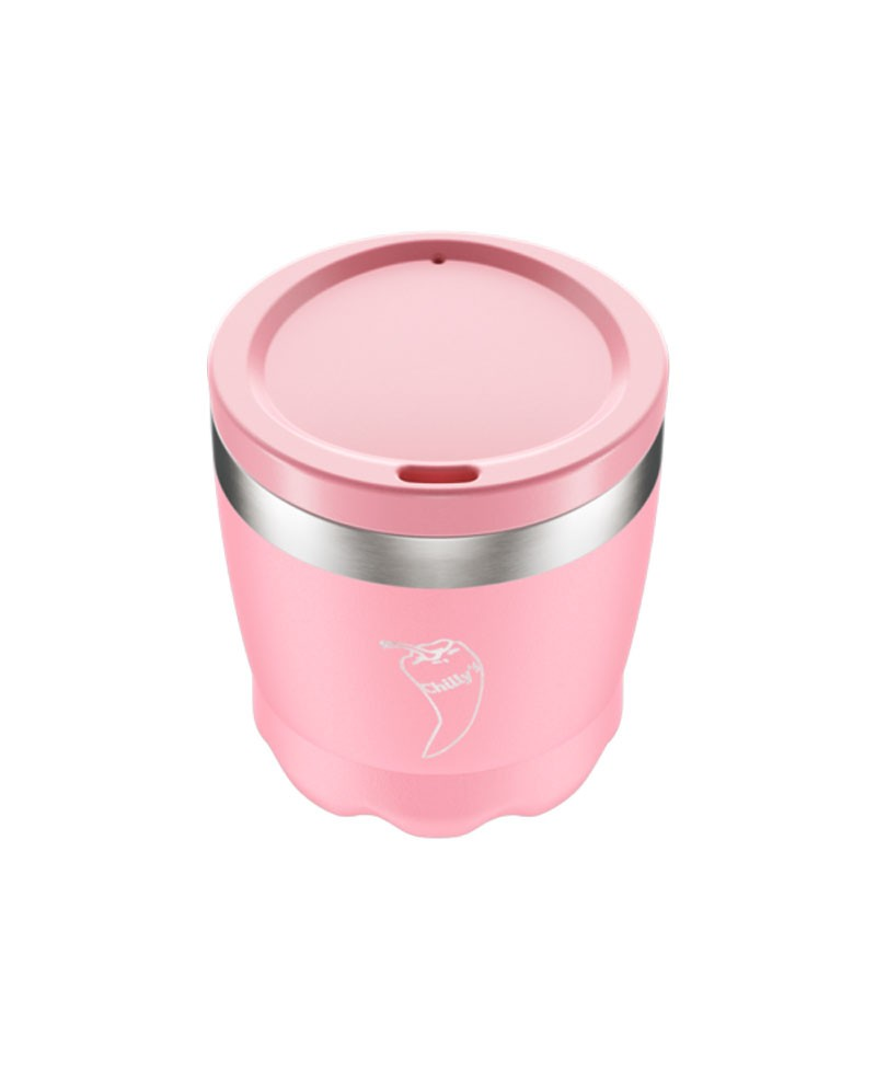 Chilly´s Vaso de café con tapa - Rosa Pastel 230 ml