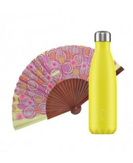 Pack Chilly Bottle Neon Yellow 500 + Tusitala Soles Fan