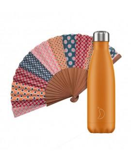 Pack Chilly Bottle Neon Orange 500 + Tusitala Lola Fan